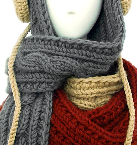 SIUYIN CHAU Fall Winter 2011 knitwear and accessories wool angora hats and scarves